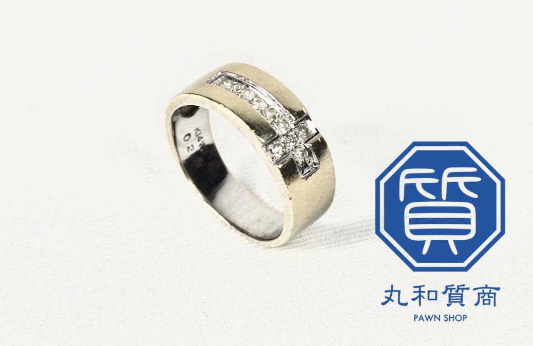 【K14 ダイヤモンド付き 指輪】を狭山市にお住まいのお客様からお買取させていただきました!