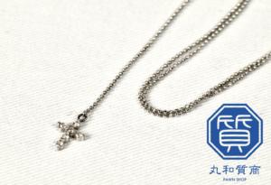 K18WG ダイヤモンドネックレスを入間市にお住まいお客様からお買取させていただきました。