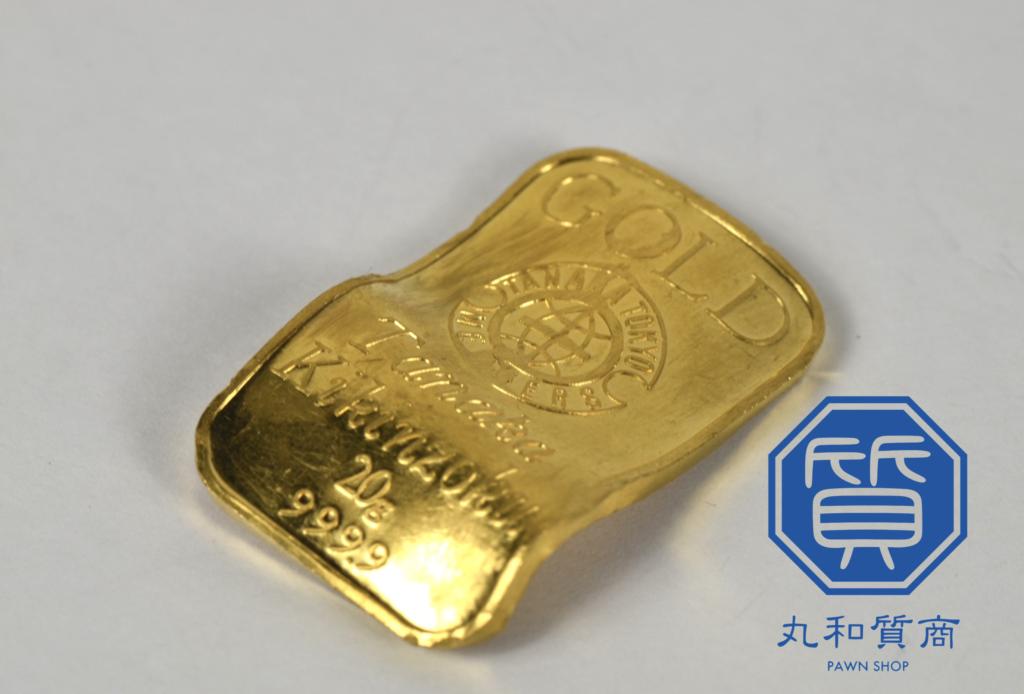 純金 K24 田中貴金属 インゴット 20gをお買取!