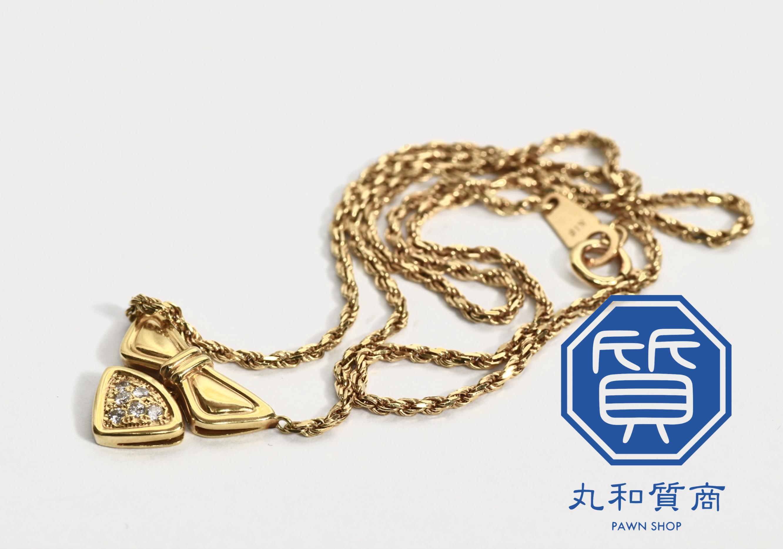 K18 18金 ダイヤモンドネックレスをお買取!価格の相場は?