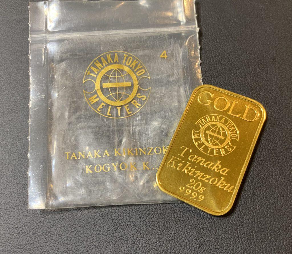純金(24金・K24)田中貴金属のインゴット 20g