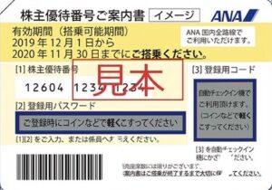 ANA(全日空)株主優待券の買取価格の相場は?