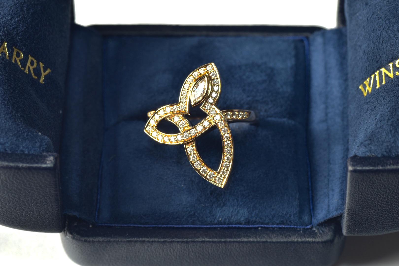 ハリーウィンストン リリークラスター 指輪 750PGをお買取!価格の相場は?