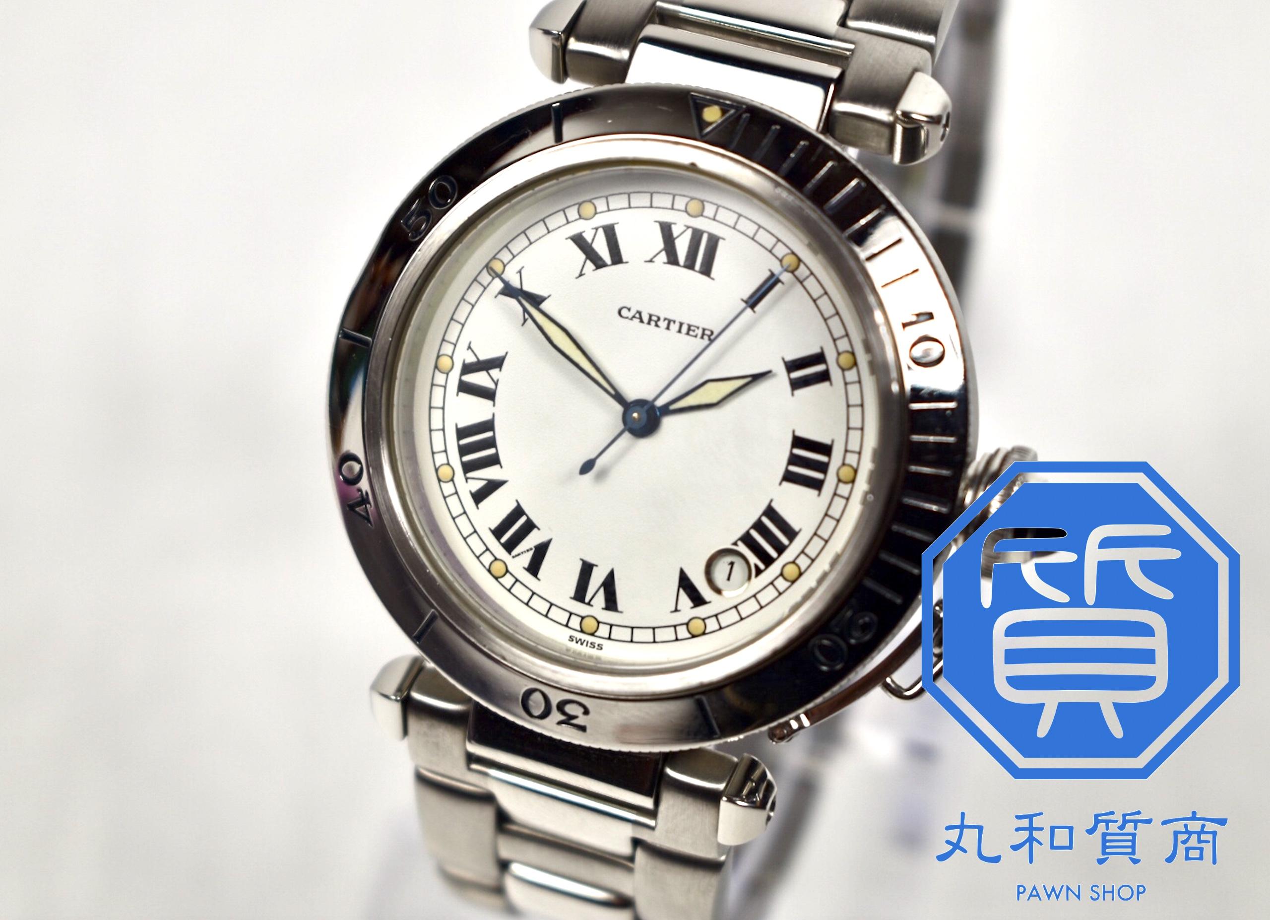 カルティエ 時計 パシャ38 ローマンをお買取!価格の相場は?