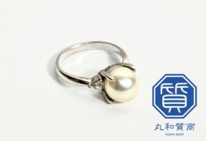 Pt850 プラチナのパールリング(真珠の指輪)をお買取させていただきました。