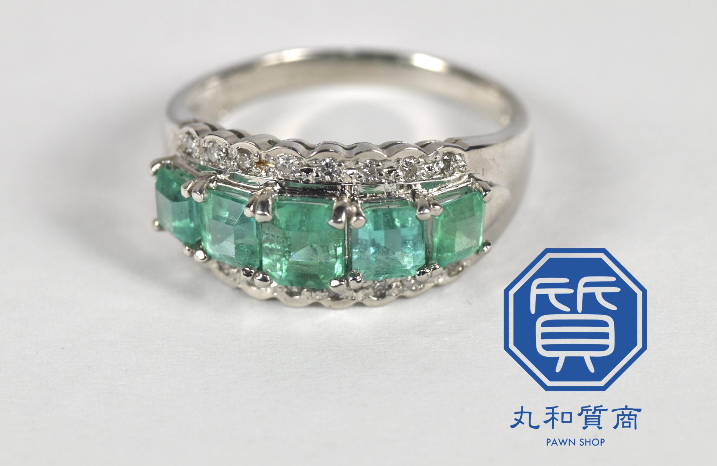 プラチナ(Pt850)エメラルドの指輪・リングをお買取させていただきました。