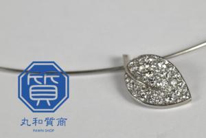 ギメル ダイヤモンド ネックレス リーフ プラチナ(Pt950,850)をお買取させていただきました。