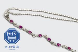 プラチナ(Pt950)ルビーのネックレスをお買取させていただきました。