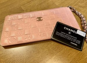 シャネル ベルテッドライン アクセサリーポーチ ピンクをお買取させていただきました。