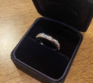 ティファニー ダイヤモンド ドッツ バンドリング,指輪 Pt950をお買取させていただきました。