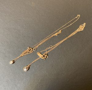 金(ピンクゴールド,K14PG)のダイヤモンドネックレスをお買取させていただきました。