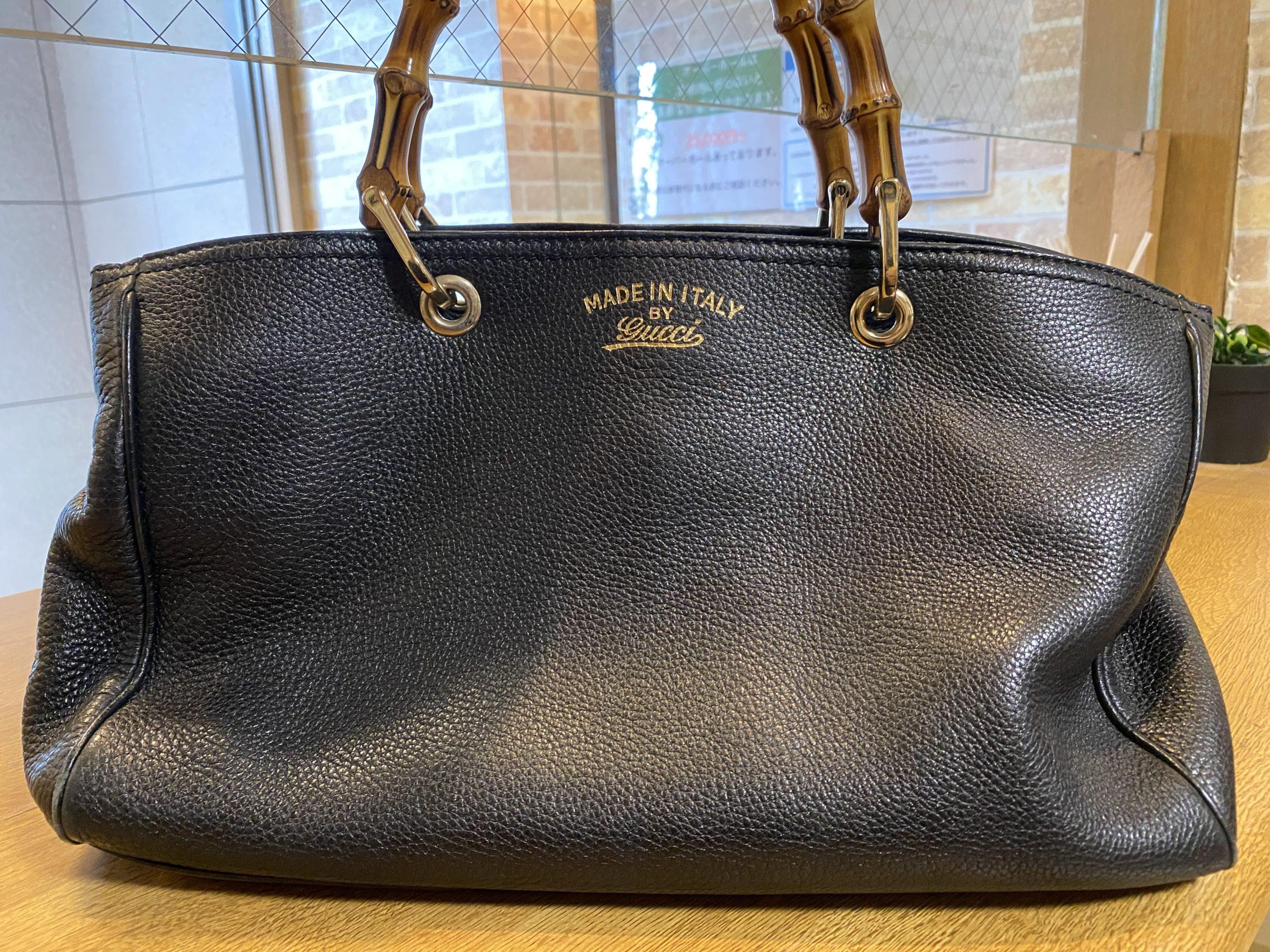 グッチ バンブーショッパー 2WAY ハンドバッグをお買取させていただきました。