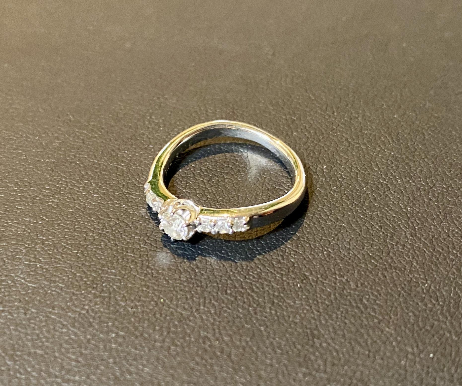 プラチナ(Pt900)ダイヤモンド付きの指輪をお買取させていただきました。
