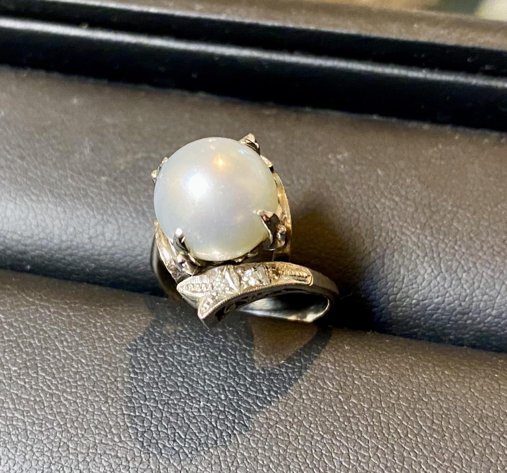 Pt900 プラチナのパールリング(真珠の指輪)をお買取