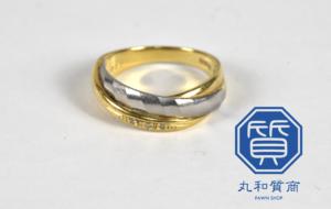 金/プラチナ(K18/Pt900)コンビのダイヤモンドリング,指輪をお買取させていただきました。
