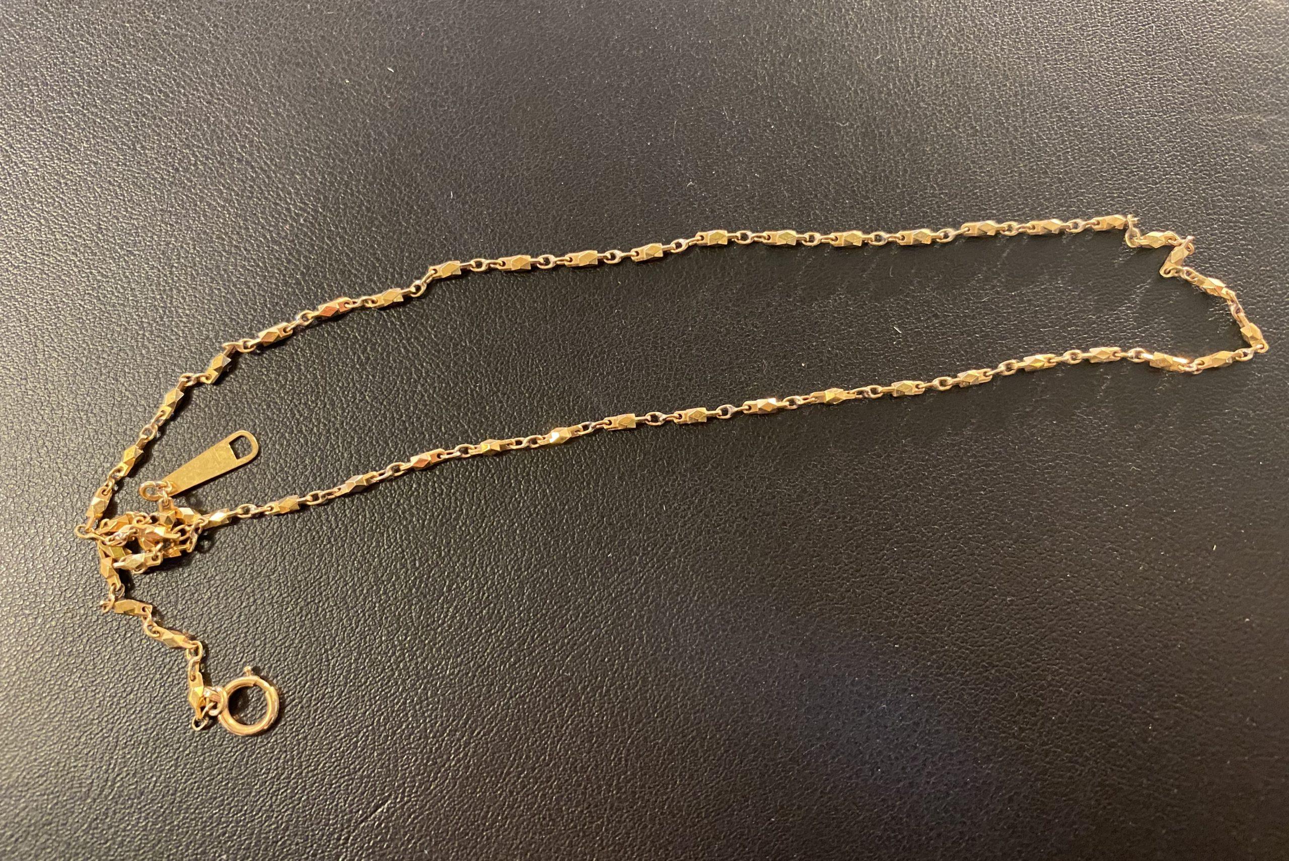金(K18,18金)ネックレスを入曽駅周辺にお住まいのお客様からお買取!価格の相場は?