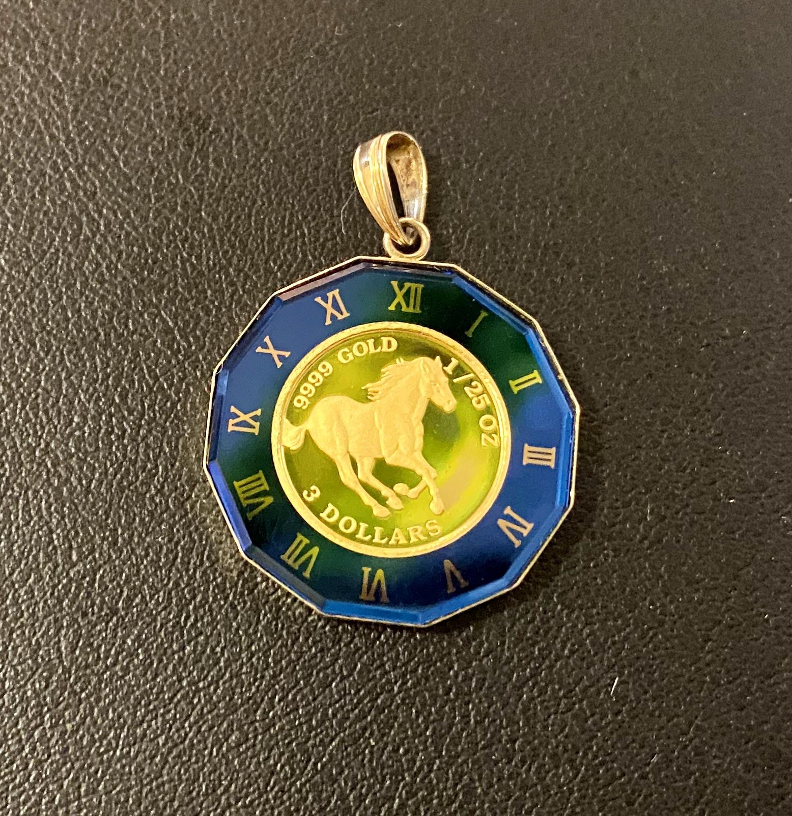 純金(K24,24金)ツバル ホース金貨 ペンダントトップ 1/25ozをお買取!価格の相場は?
