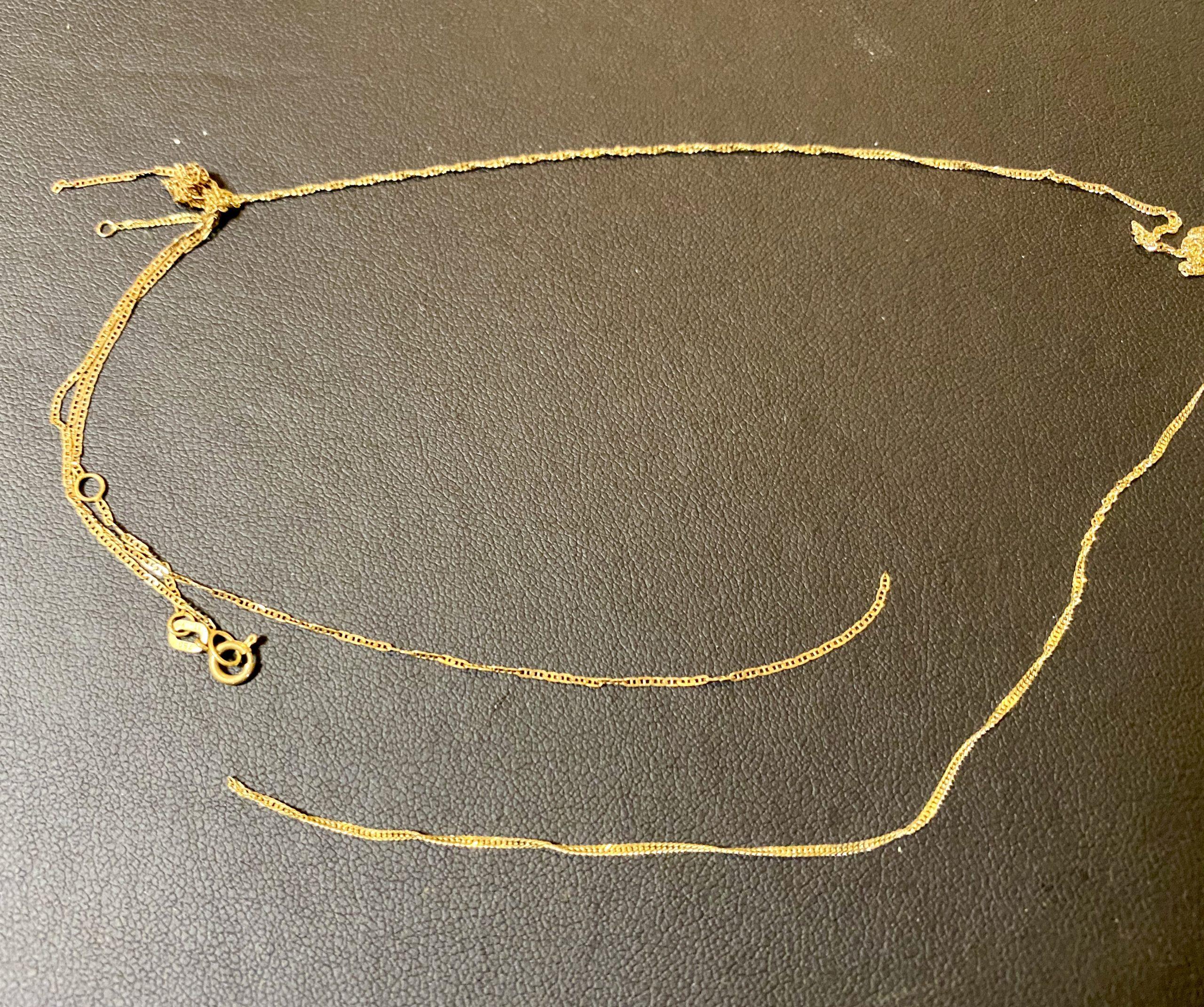 金(750刻印,18金) 切れたネックレスをお買取!価格の相場は?