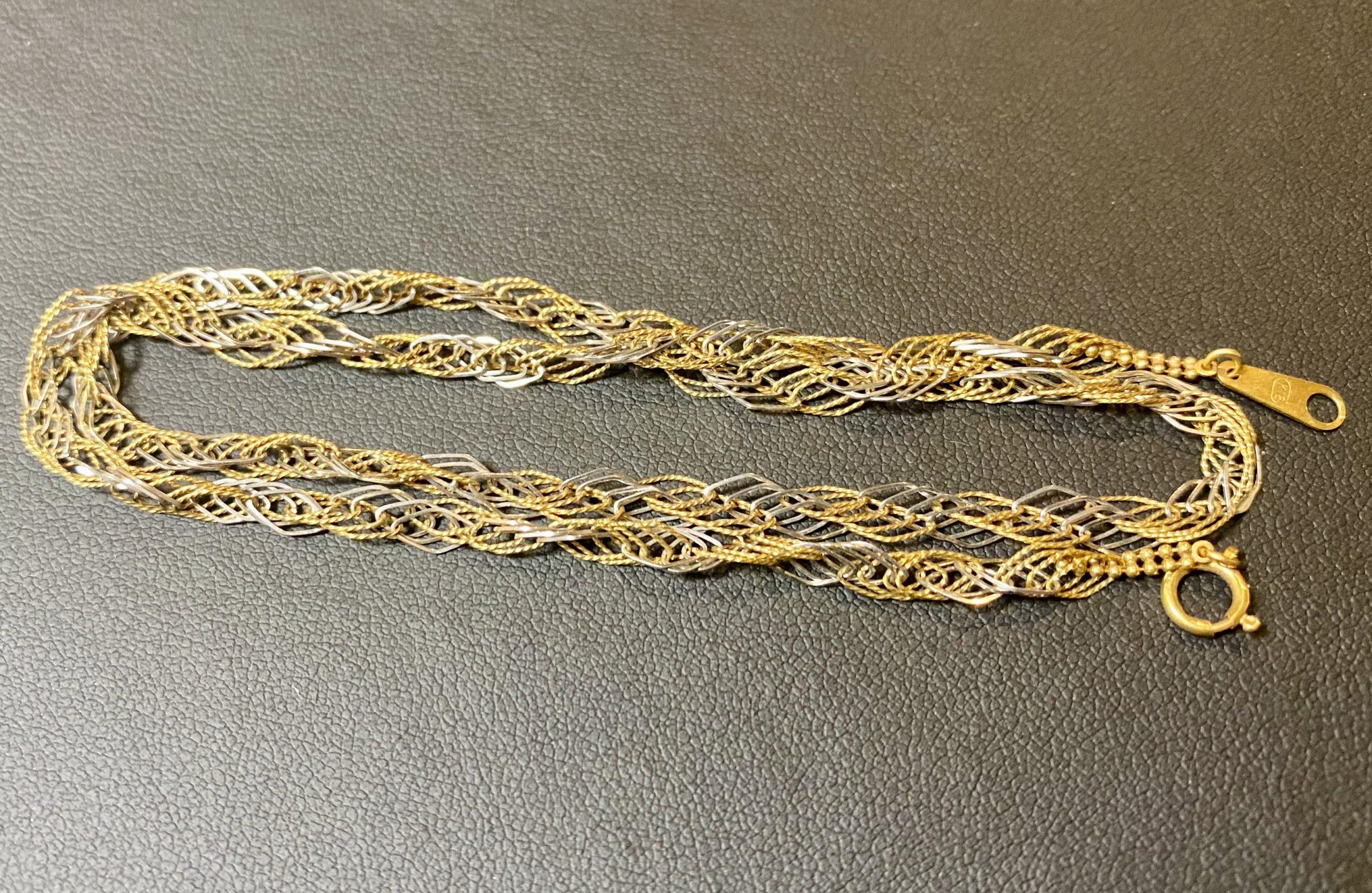 金/プラチナ(K18/Pt850)コンビのネックレスをお買取!価格の相場は?