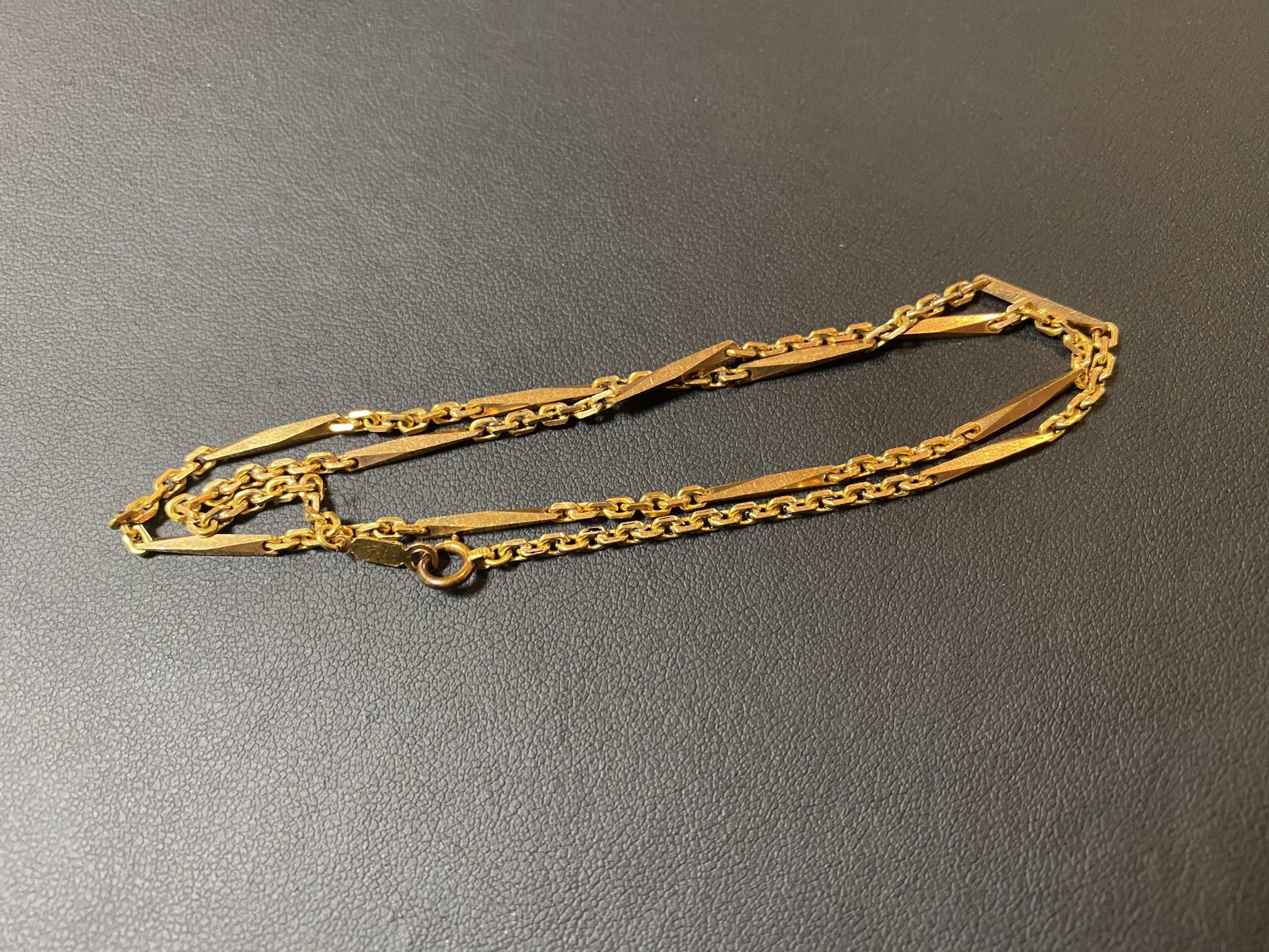 金(K18,18金)切子デザインのネックレスをお買取!価格の相場は?