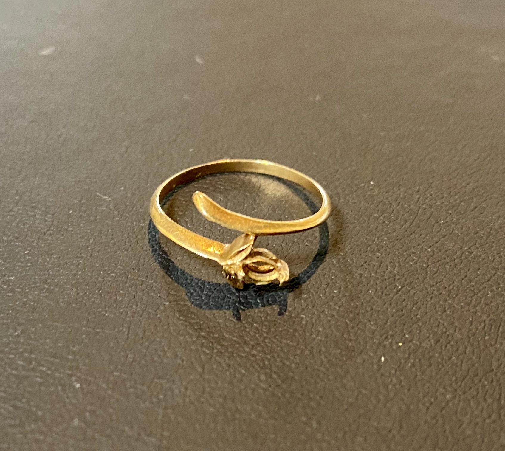金(18K刻印,18金) 石の外れた指輪,リングをお買取!価格の相場は?
