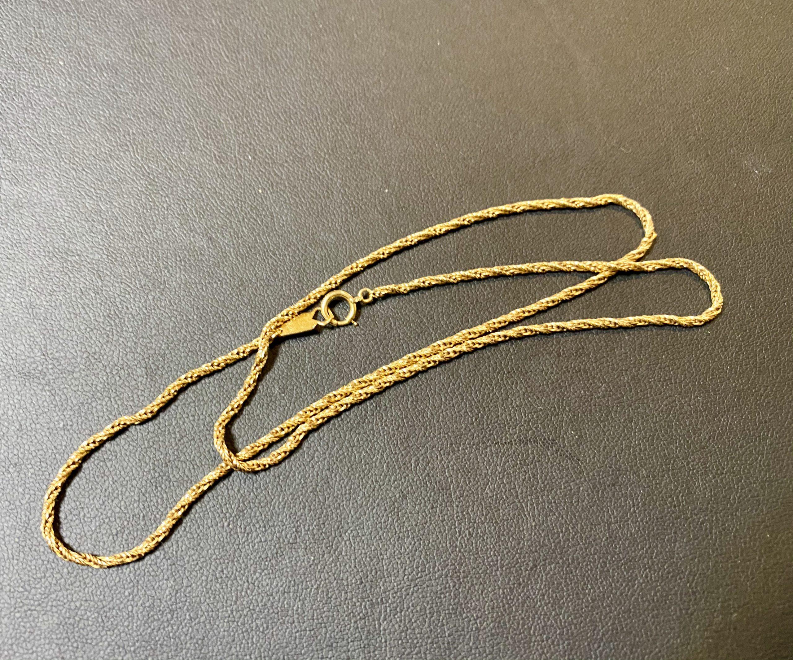 金(K18,18金)ネックレスを秋津駅周辺にお住まいのお客様からお買取!価格の相場は?