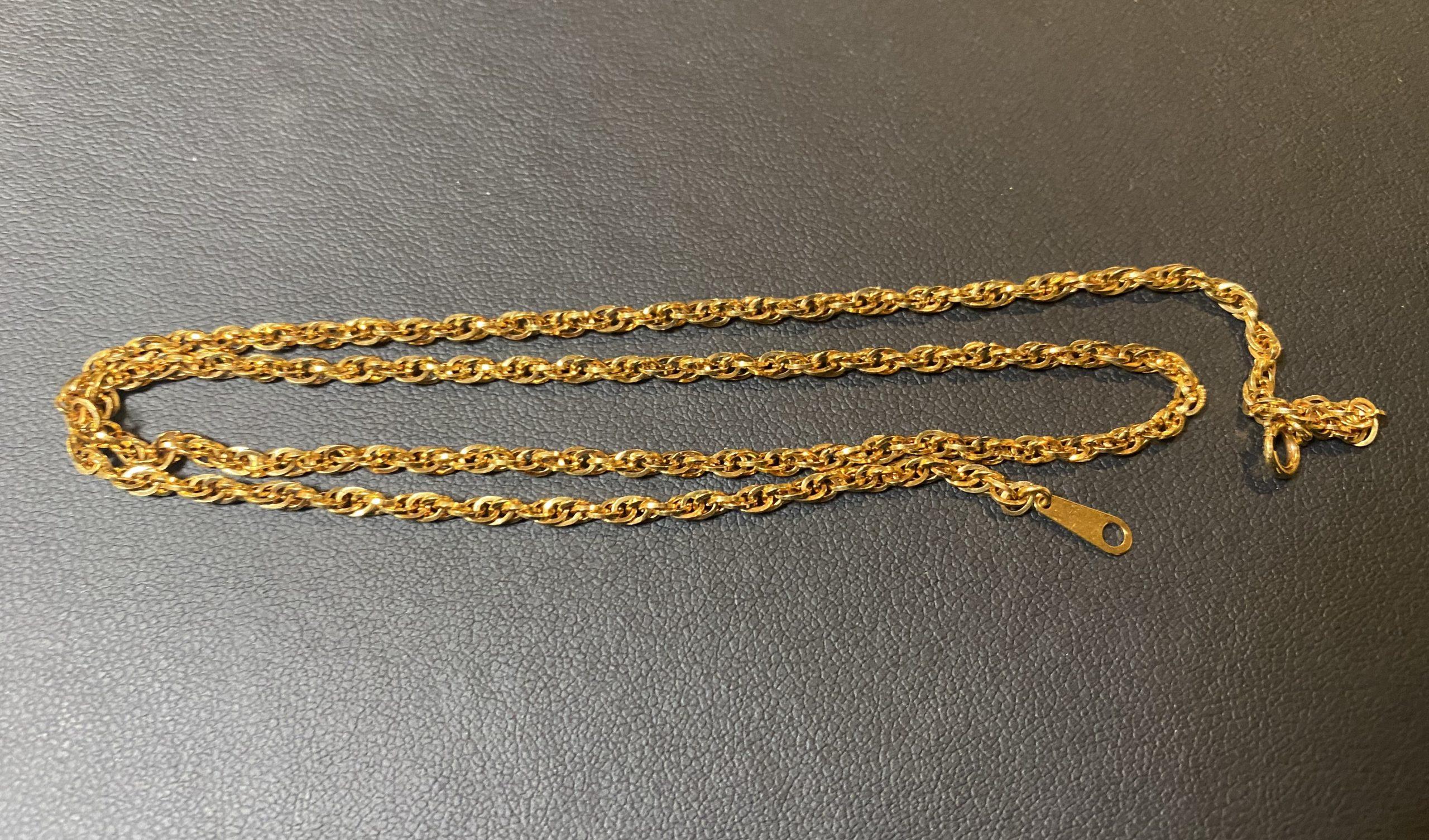 金(K18,18金)ネックレスを狭山ヶ丘駅周辺にお住まいのお客様からお買取!価格の相場は?