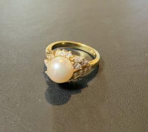 ミキモト/MIKIMOTO ダイヤモンド付きパールリング,指輪をお買取させていただきました。