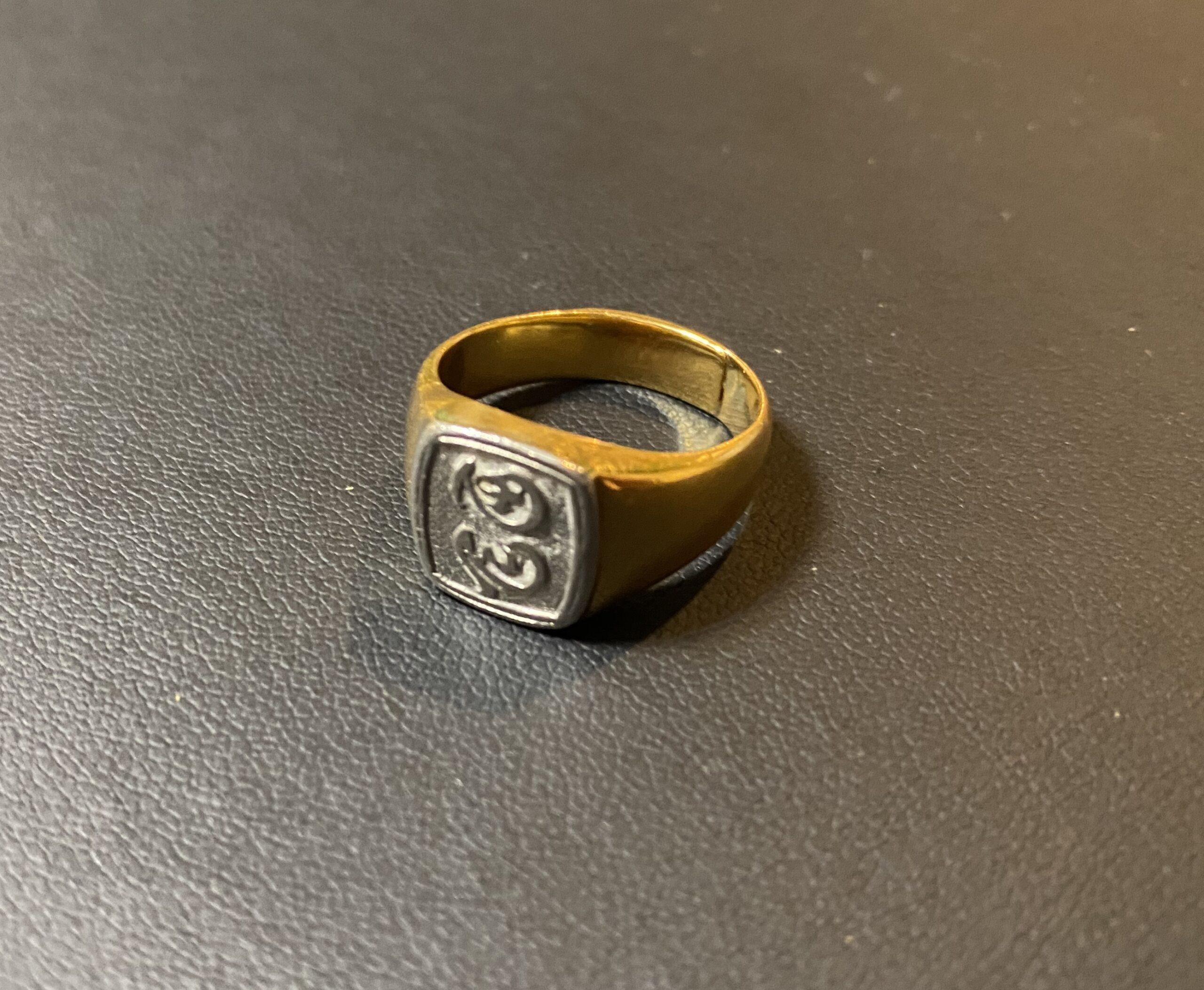 金/プラチナ(K18,Pt900)コンビの印台リング,指輪をお買取!価格の相場は?