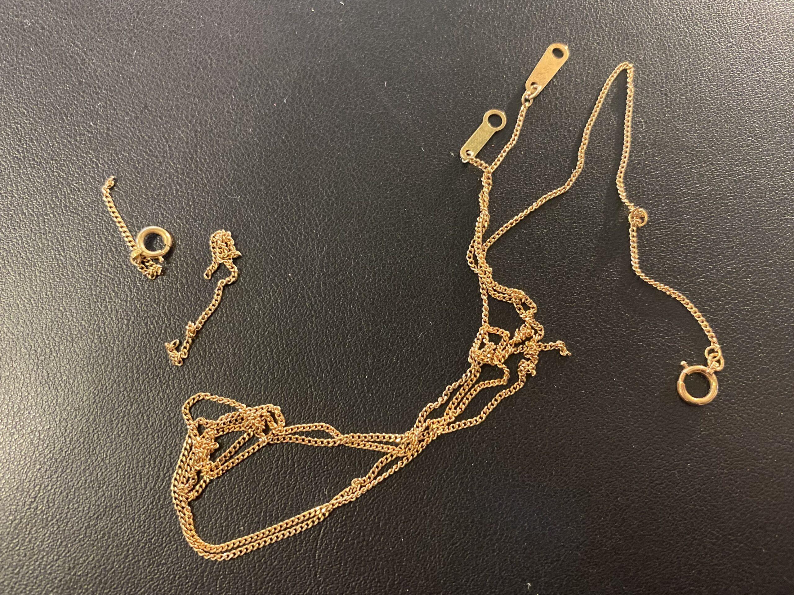 金(K14,14金)ちぎれたネックレスをお買取!価格の相場は?