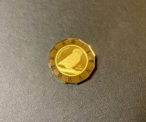 純金(K24,24金)ツバル フクロウ金貨 1/10ozをお買取!価格の相場は?
