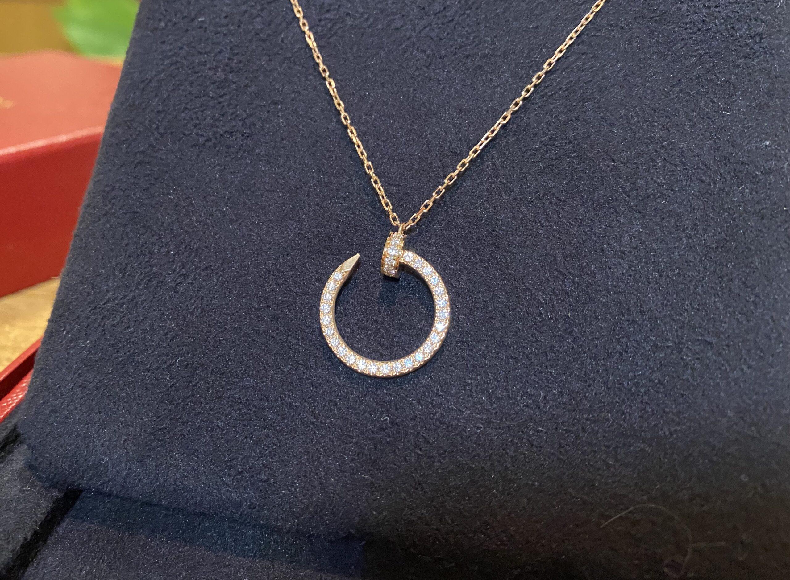 カルティエ ジュストアンクル ネックレス ダイヤ K18PGをお買取!価格の相場は?
