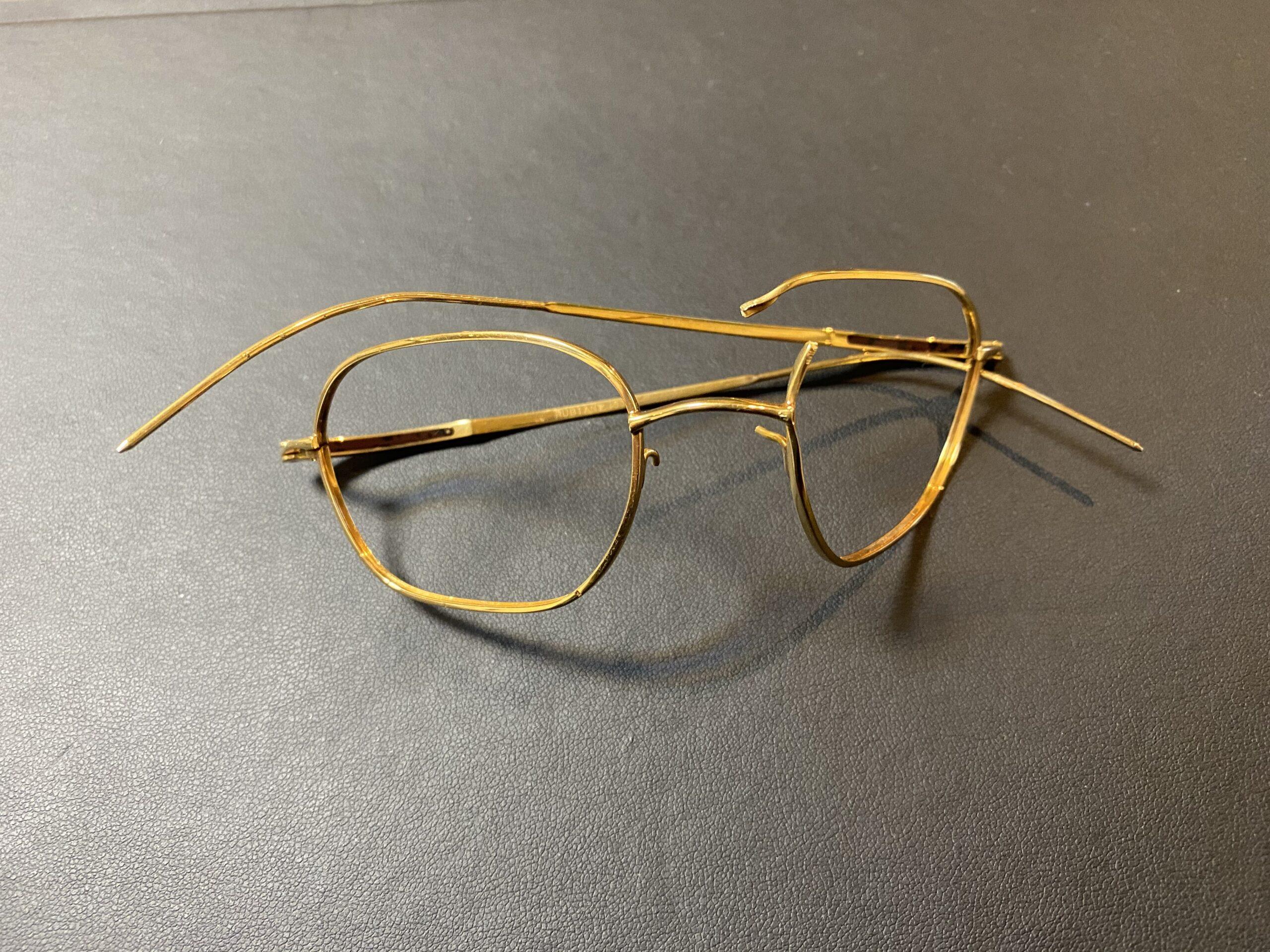 金(K18,18金)壊れたメガネフレームをお買取!価格の相場は?