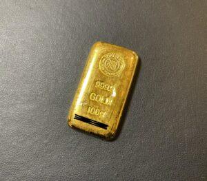 純金(K24,24金)徳力インゴット バー 100gをお買取!価格の相場は?